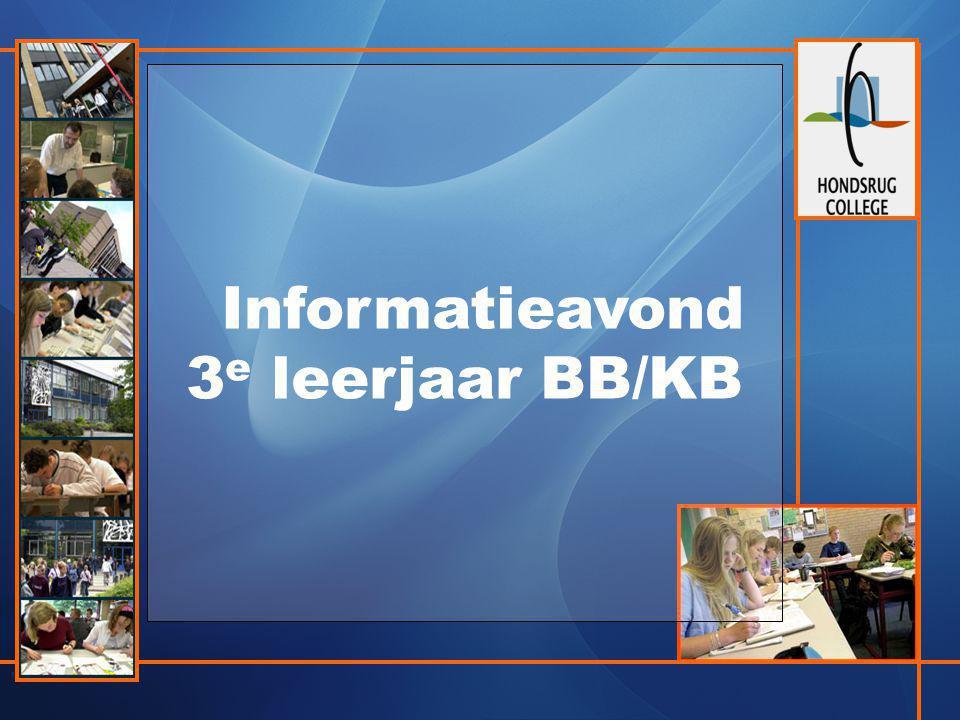 Informatieavond 3 e leerjaar BB/KB