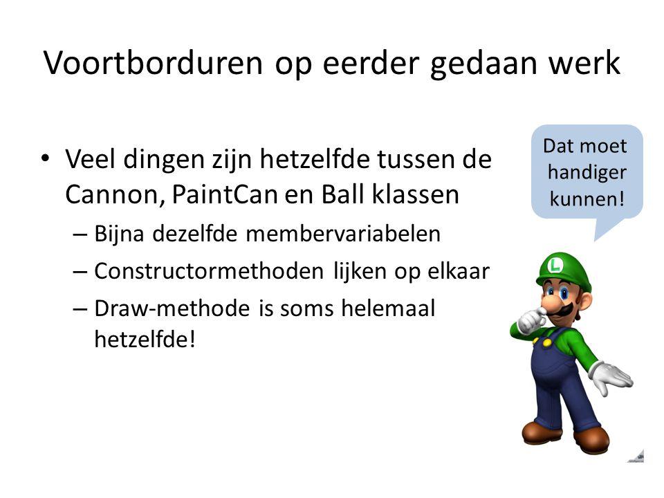 Score op het scherm tekenen Draw methode van GameWorld uitbreiden: public void Draw(GameTime gameTime, SpriteBatch spriteBatch) { spriteBatch.Begin(); spriteBatch.Draw(background… ….
