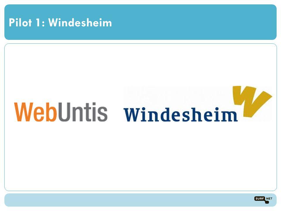 Pilot 1: Windesheim
