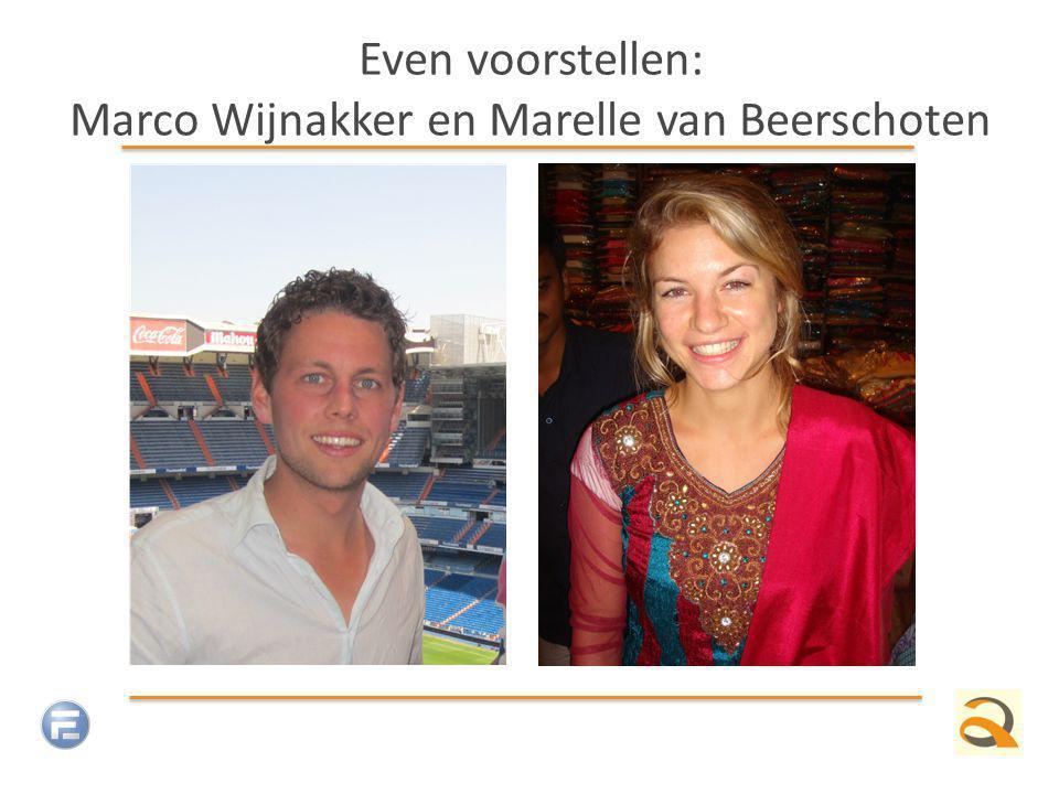 Even voorstellen: Marco Wijnakker en Marelle van Beerschoten