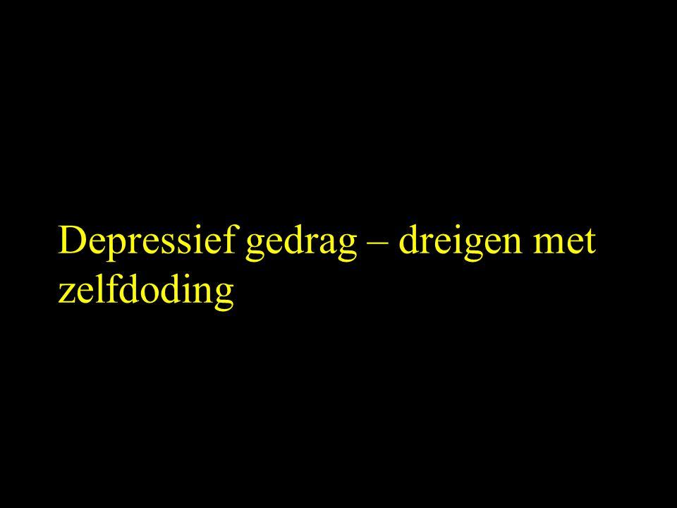 Depressief gedrag – dreigen met zelfdoding