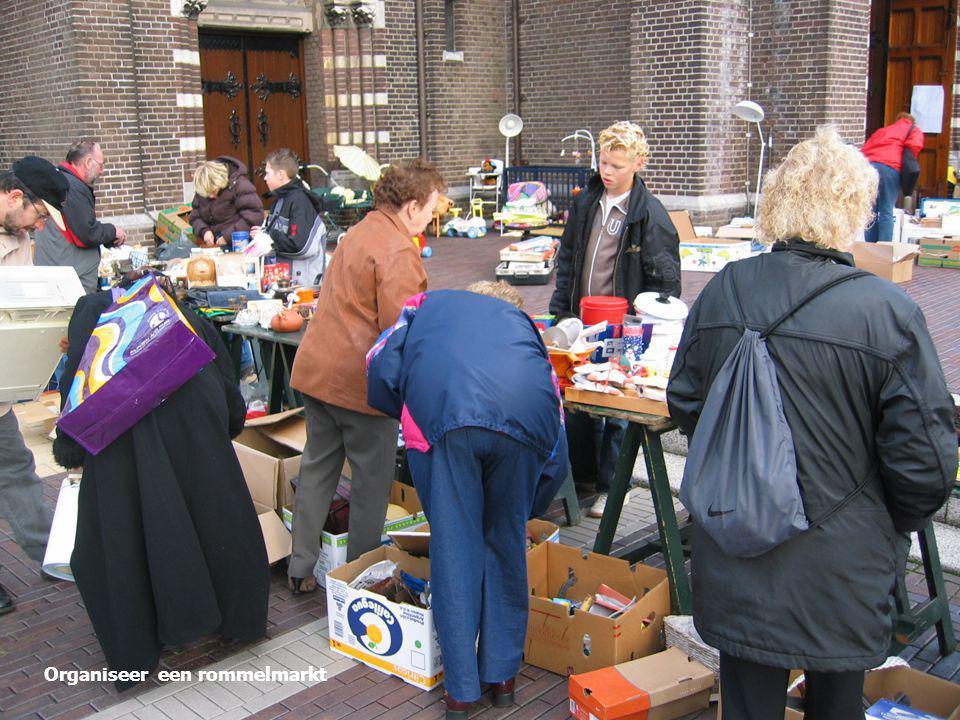 Organiseer een rommelmarkt