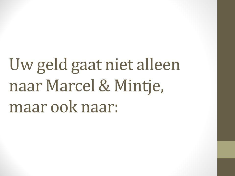 Uw geld gaat niet alleen naar Marcel & Mintje, maar ook naar: