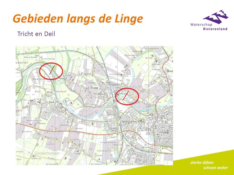 Gebieden langs de Linge Tricht en Deil
