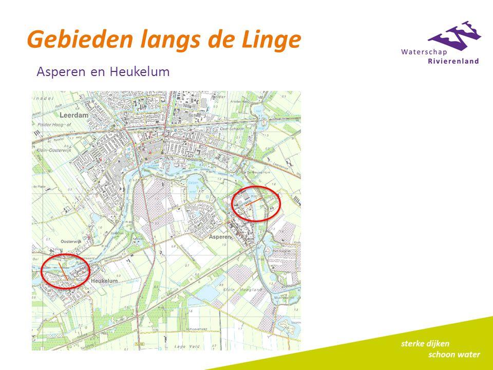 Gebieden langs de Linge Asperen en Heukelum