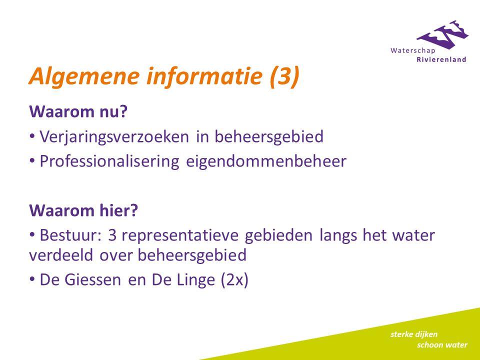 Algemene informatie (3) Waarom nu.