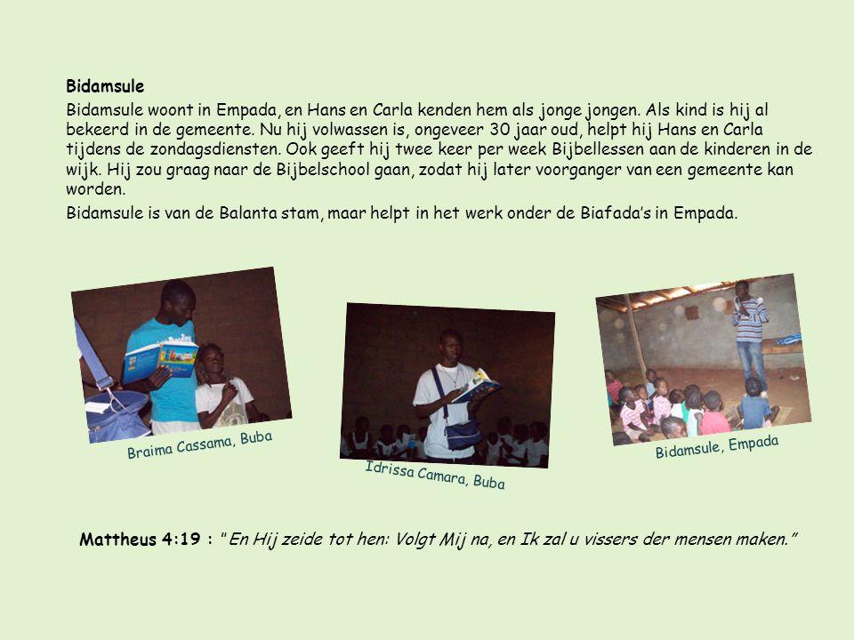 Braima Cassama, Buba Bidamsule Bidamsule woont in Empada, en Hans en Carla kenden hem als jonge jongen.