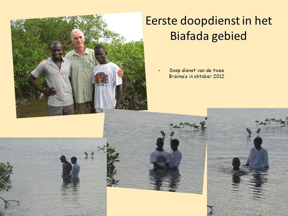 Eerste doopdienst in het Biafada gebied -Doop dienst van de twee Braima's in oktober 2012