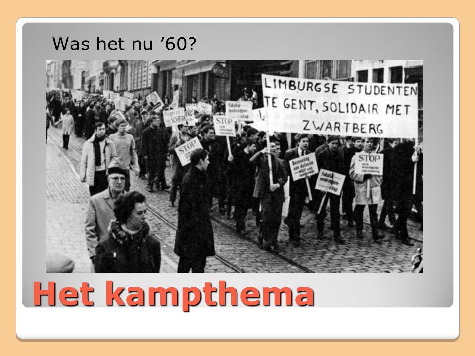 Het kampthema Was het nu '60