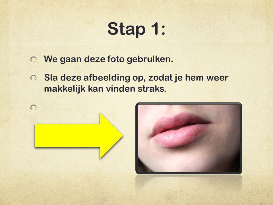 Stap 2: Klik nu op file en dan op open en selecteer de afbeelding die je zonet had opgeslagen.