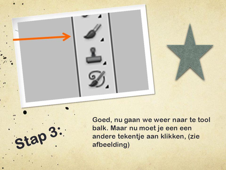 Stap 4: Nu zie je helemaal links boven in dit als het het goed is (zie afbeelding.