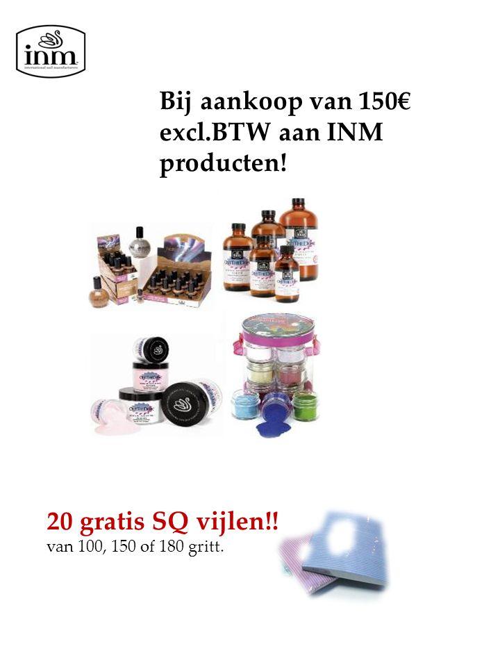 Bij aankoop van 150€ excl.BTW aan INM producten! 20 gratis SQ vijlen!! van 100, 150 of 180 gritt.