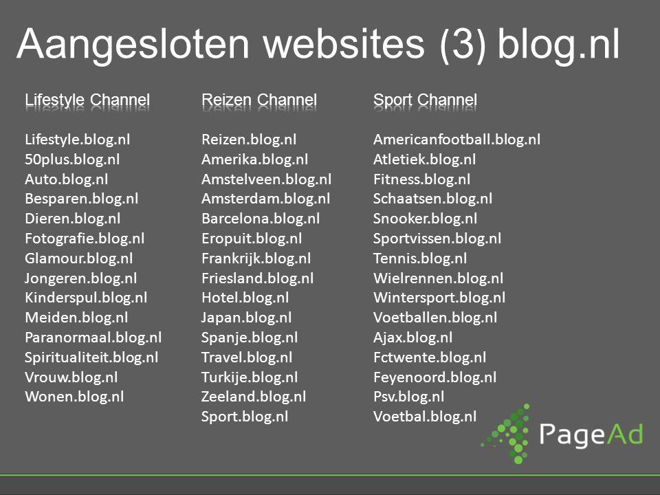 Aangesloten websites ( 3 ) blog.nl
