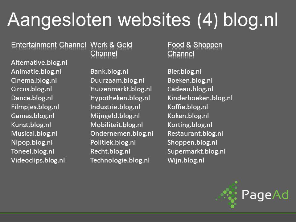 Aangesloten websites ( 4 ) blog.nl
