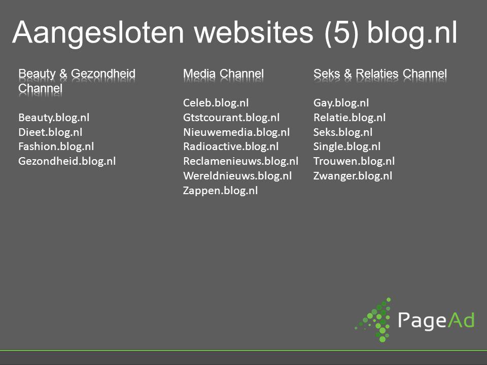 Aangesloten websites ( 5 ) blog.nl