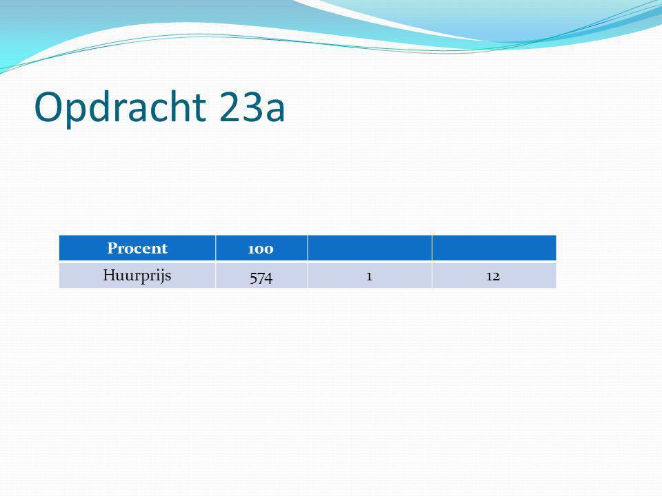 Opdracht 23a Procent100 Huurprijs574112