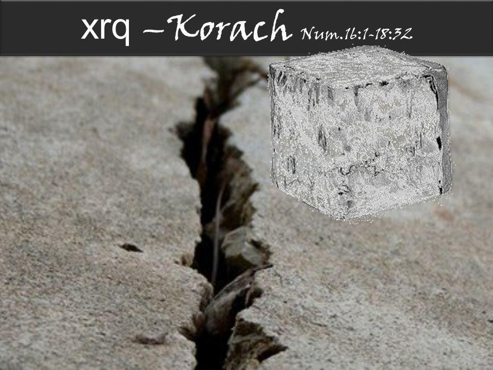 xrq –Korach Num.16:1-18:32