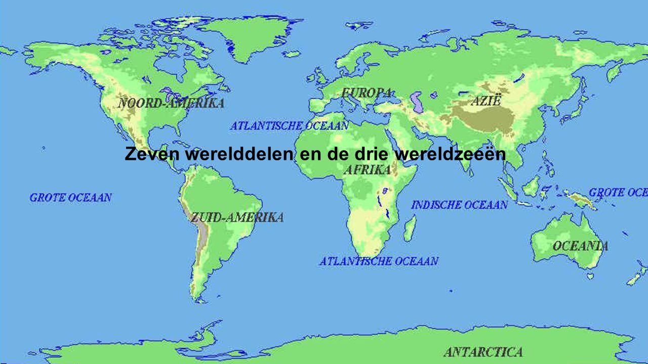 Zeven werelddelen en de drie wereldzeeën