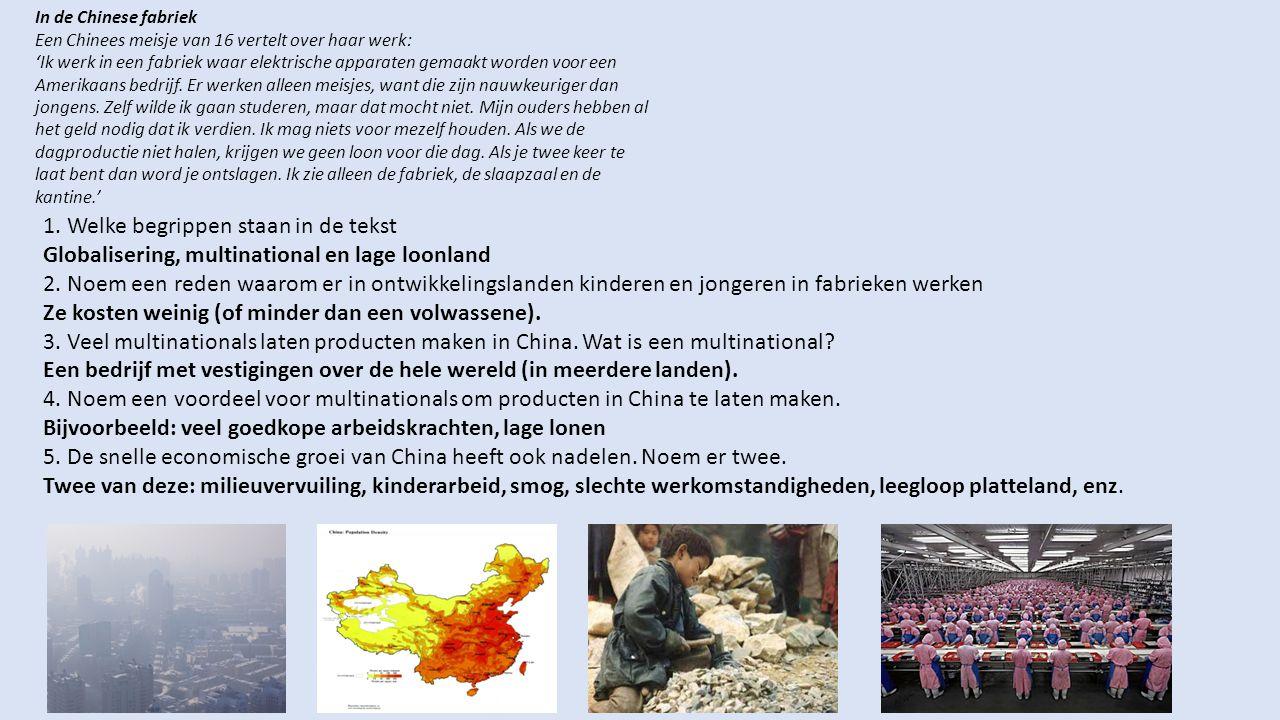 In de Chinese fabriek Een Chinees meisje van 16 vertelt over haar werk: 'Ik werk in een fabriek waar elektrische apparaten gemaakt worden voor een Ame