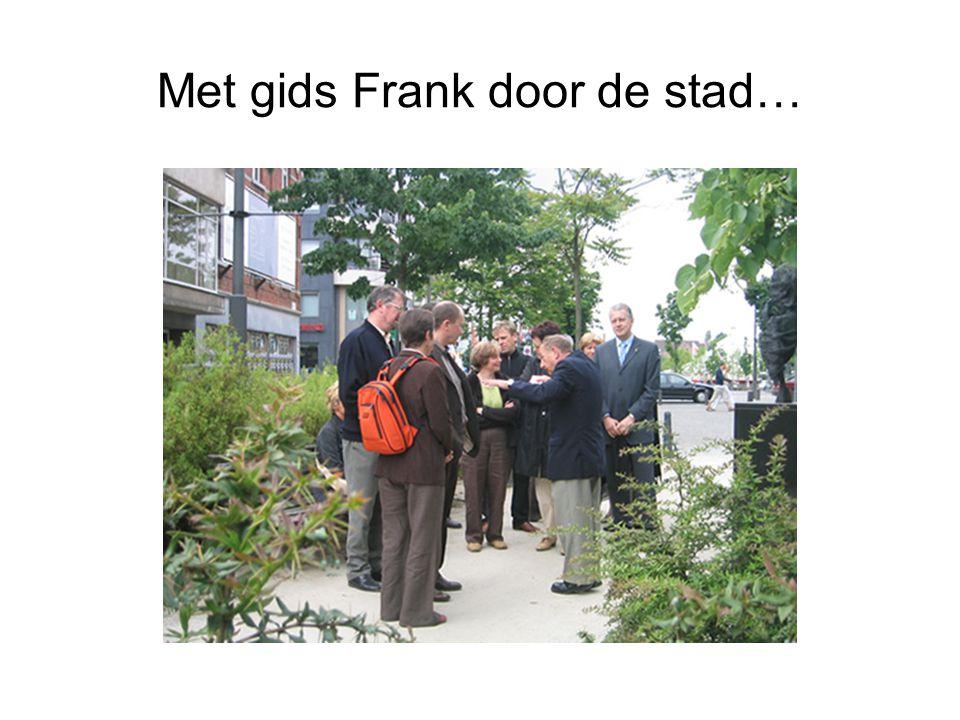 Met gids Frank door de stad…