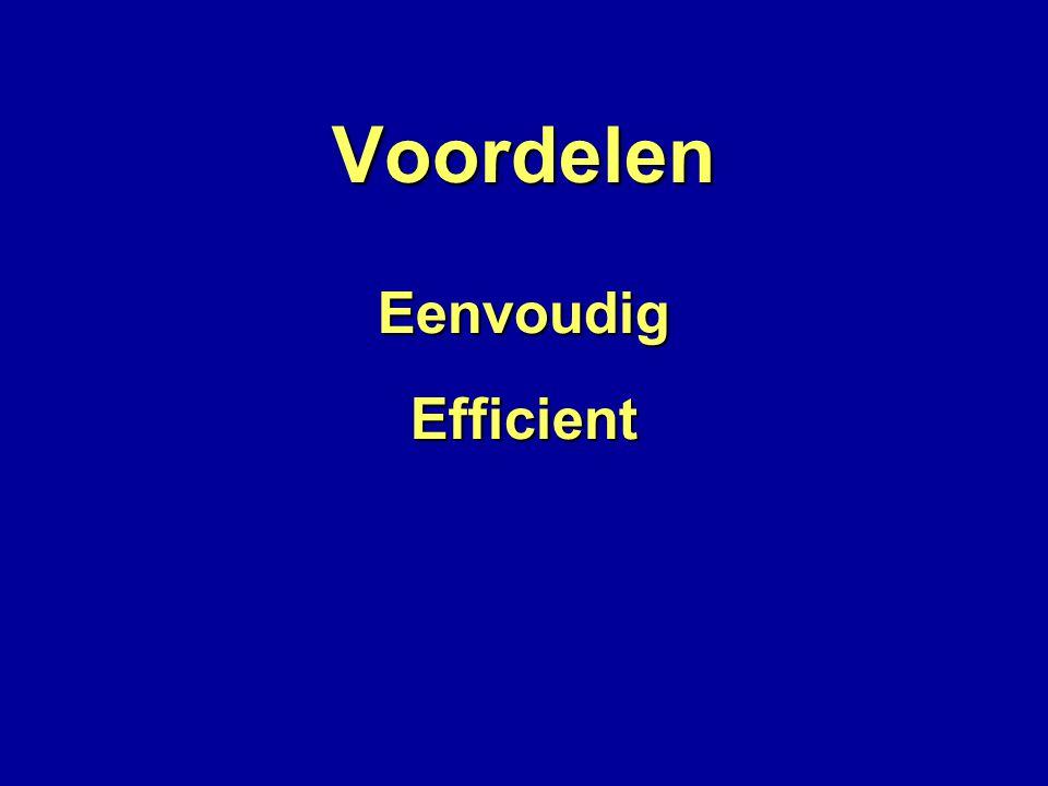 Voordelen EenvoudigEfficient