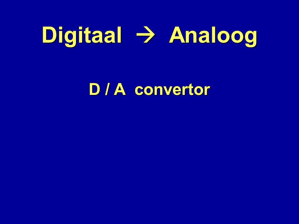Digitaal  Analoog D / A convertor