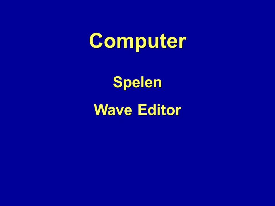 Computer Spelen Wave Editor
