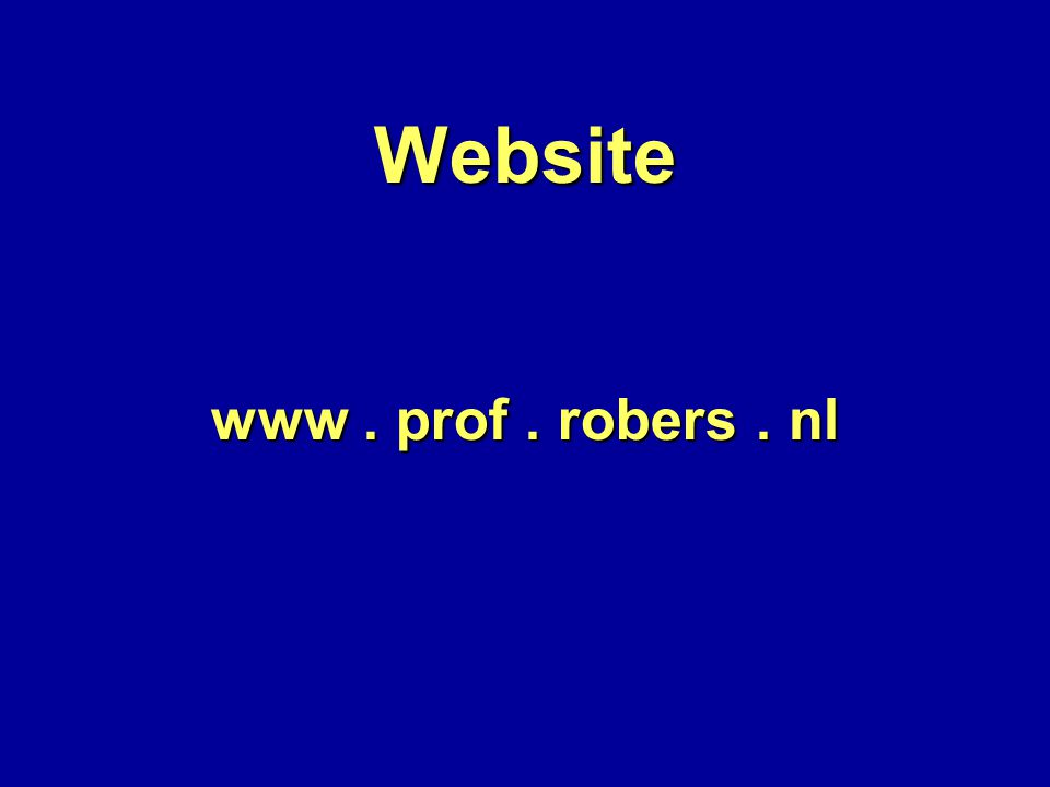 Website www. prof. robers. nl