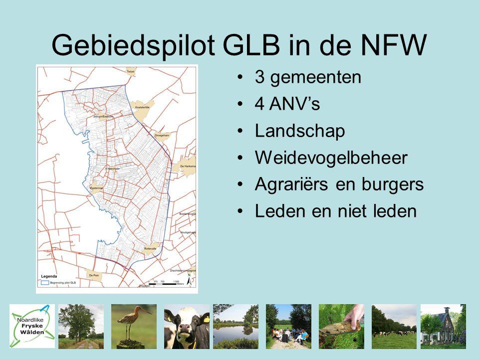 Gebiedspilot GLB in de NFW 3 gemeenten 4 ANV's Landschap Weidevogelbeheer Agrariërs en burgers Leden en niet leden