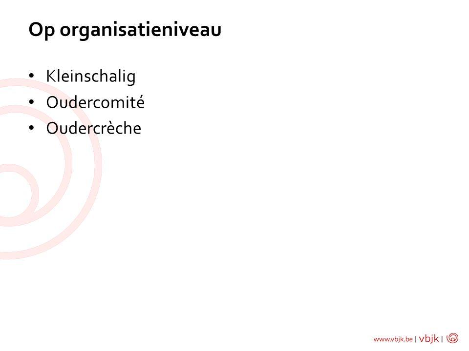 Kleinschalig Oudercomité Oudercrèche Op organisatieniveau