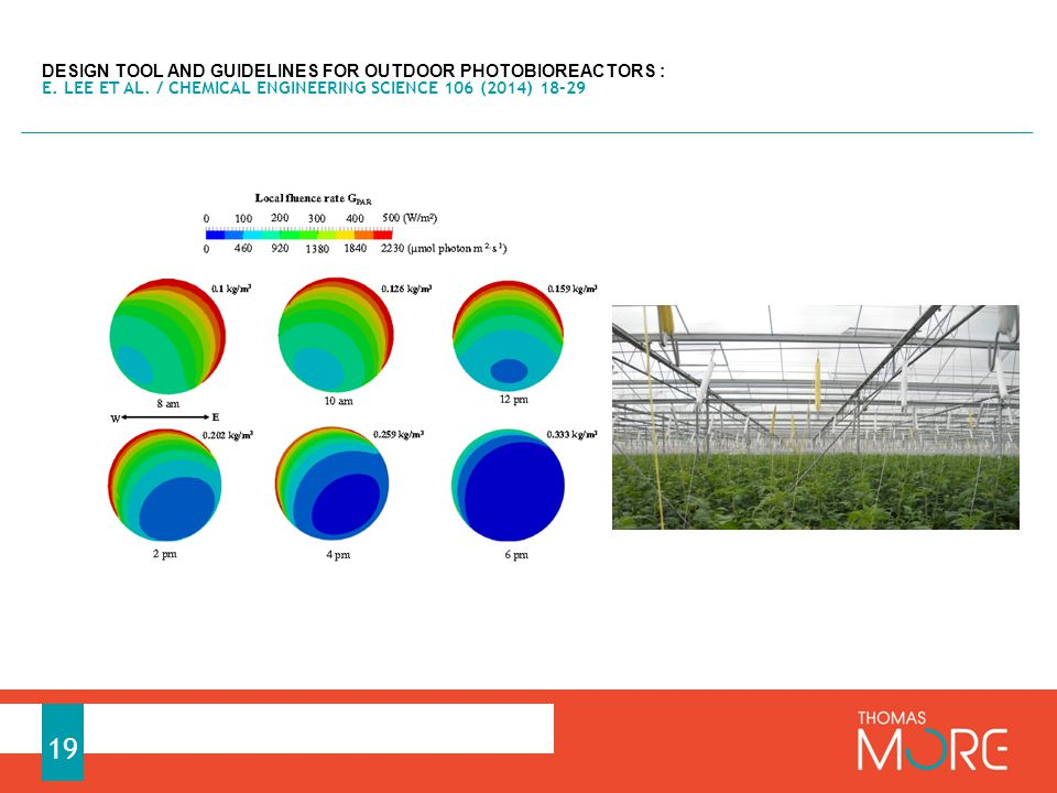DESIGN TOOL AND GUIDELINES FOR OUTDOOR PHOTOBIOREACTORS : E.