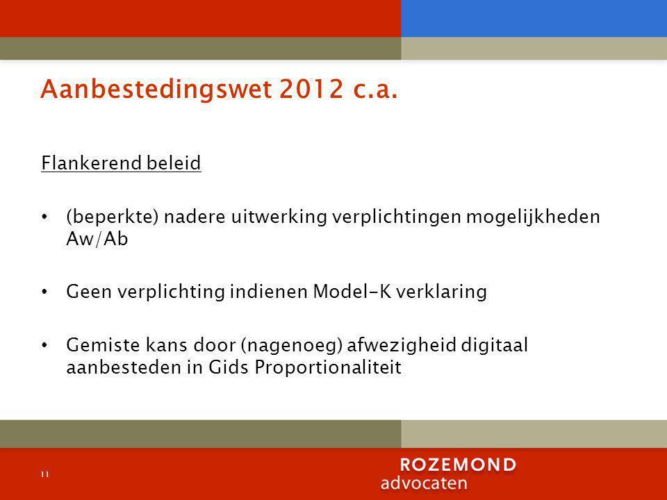 Aanbestedingswet 2012 c.a.