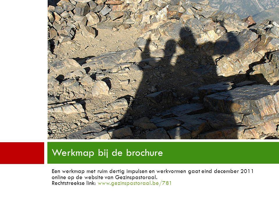 Een werkmap met ruim dertig impulsen en werkvormen gaat eind december 2011 online op de website van Gezinspastoraal. Rechtstreekse link: www.gezinspas