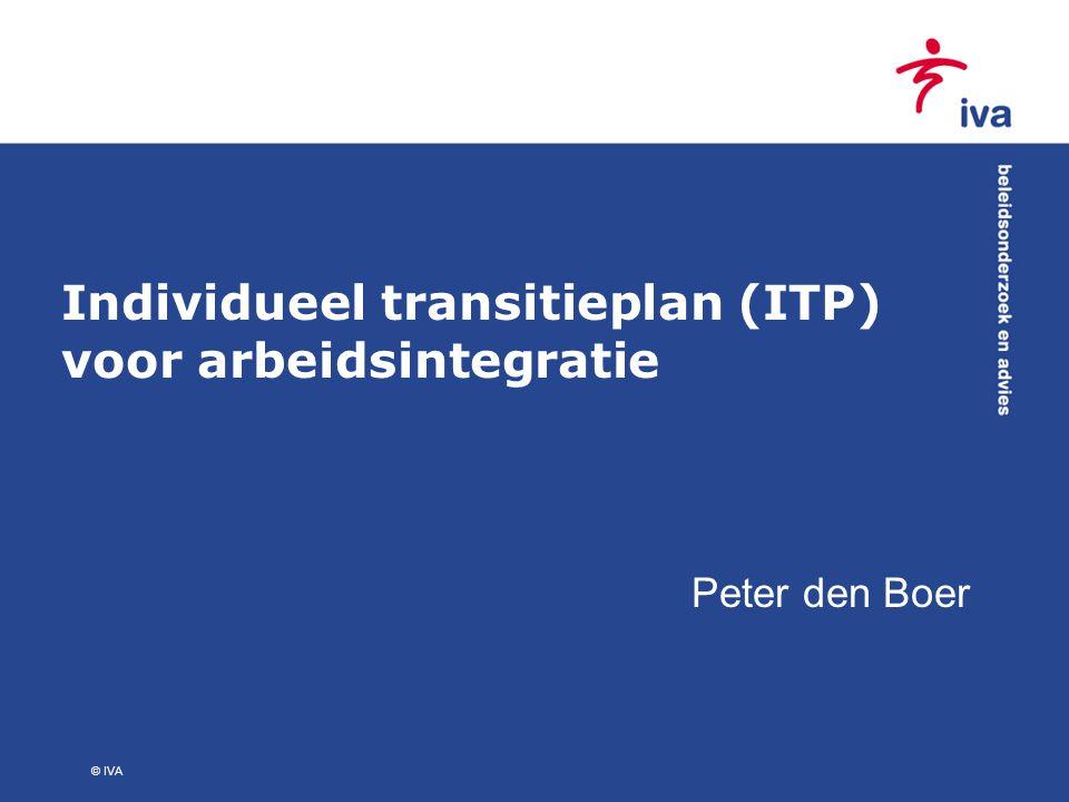 © IVA Individueel transitieplan (ITP) voor arbeidsintegratie Peter den Boer