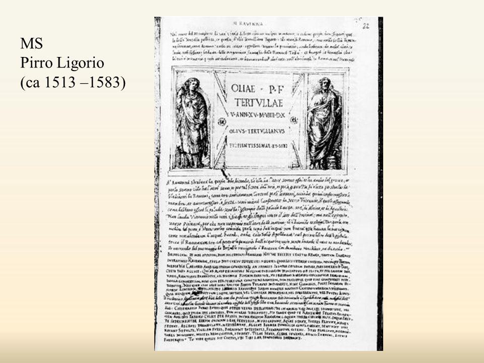 MS Pirro Ligorio (ca 1513 –1583)