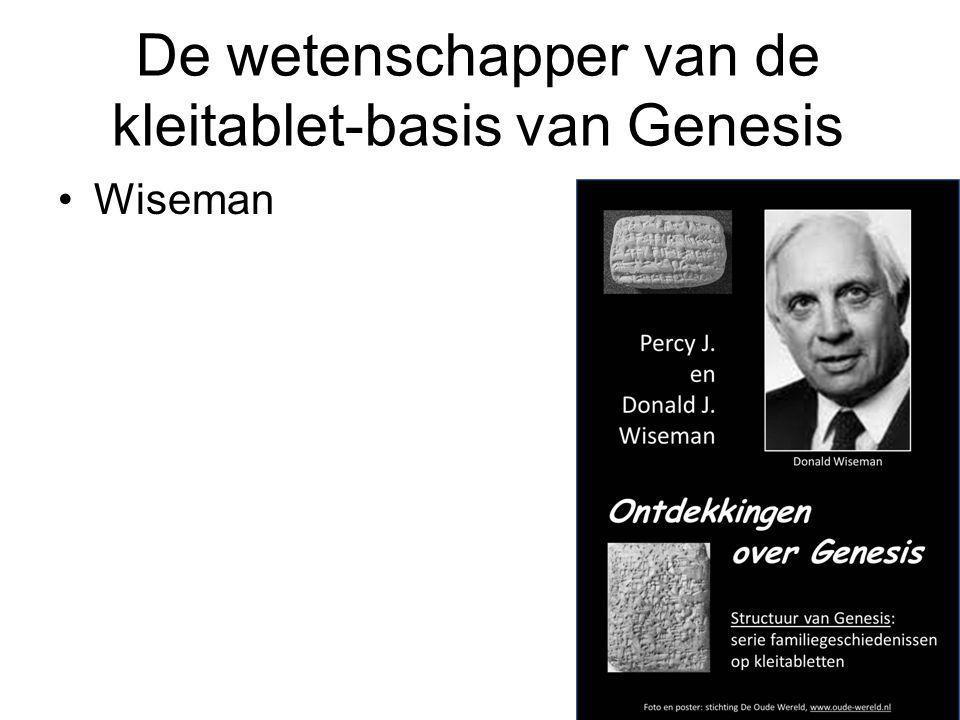 De wetenschapper van de kleitablet-basis van Genesis Wiseman