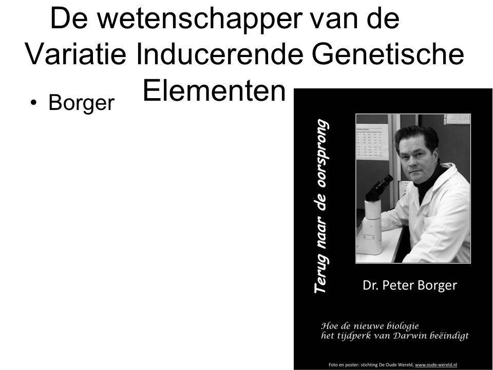 De wetenschapper van de Variatie Inducerende Genetische Elementen Borger
