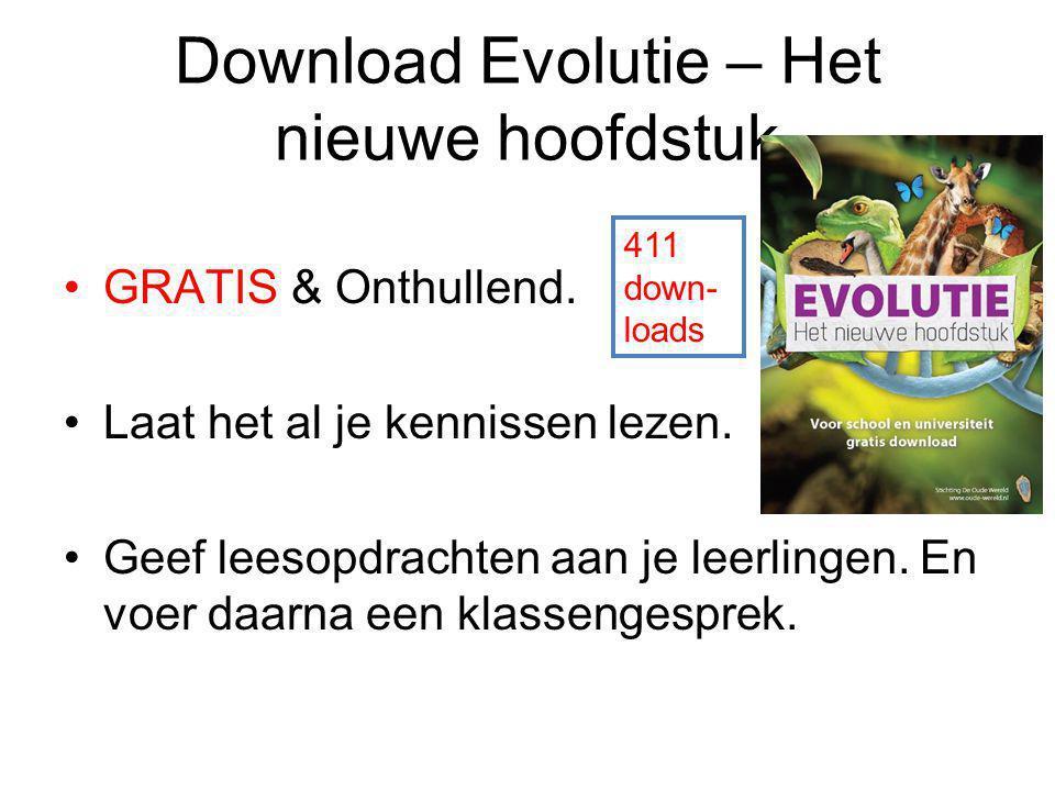 Download Evolutie – Het nieuwe hoofdstuk GRATIS & Onthullend. Laat het al je kennissen lezen. Geef leesopdrachten aan je leerlingen. En voer daarna ee