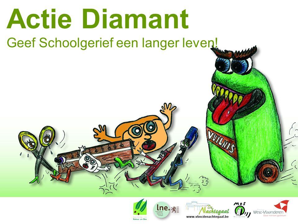 Actie Diamant Geef Schoolgerief een langer leven!