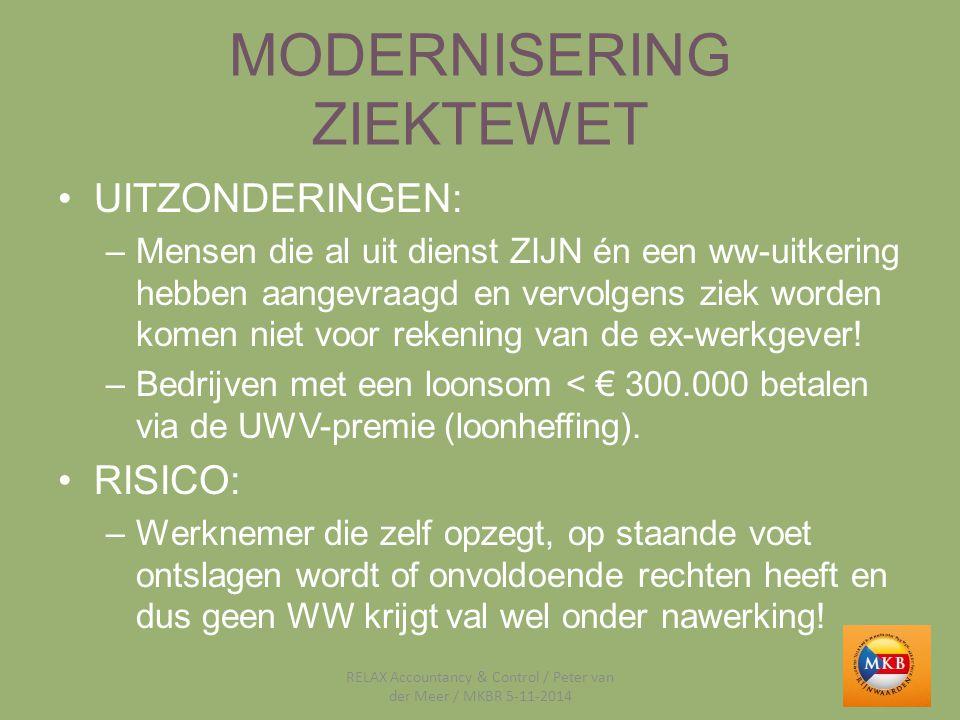 MODERNISERING ZIEKTEWET VOORBEELD 1 CASUS –Joke, al 10 jaar in dienst en ziek van 18-11-2013 tot 14-1-2014.