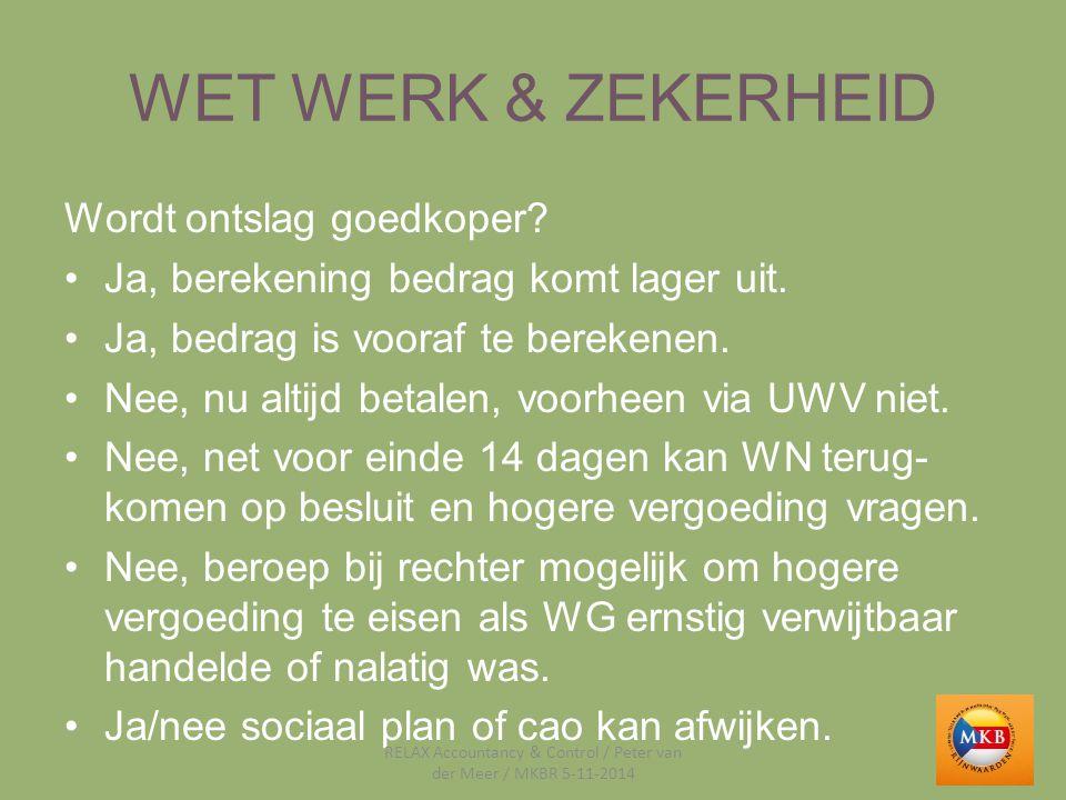 WET WERK & ZEKERHEID VOORBEELD Bram had een tijdelijk contract (1-4-2013 t/m 31- 3-2014) en van 1-9-2014 t/m 30-09-2015.
