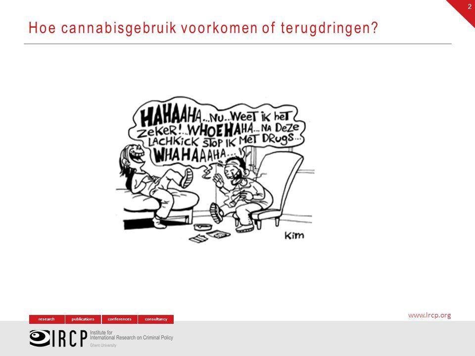 researchpublicationsconferencesconsultancy www.ircp.org ~ Doelstellingen Prioritaire producten – interventies – doelgroepen o.b.v.