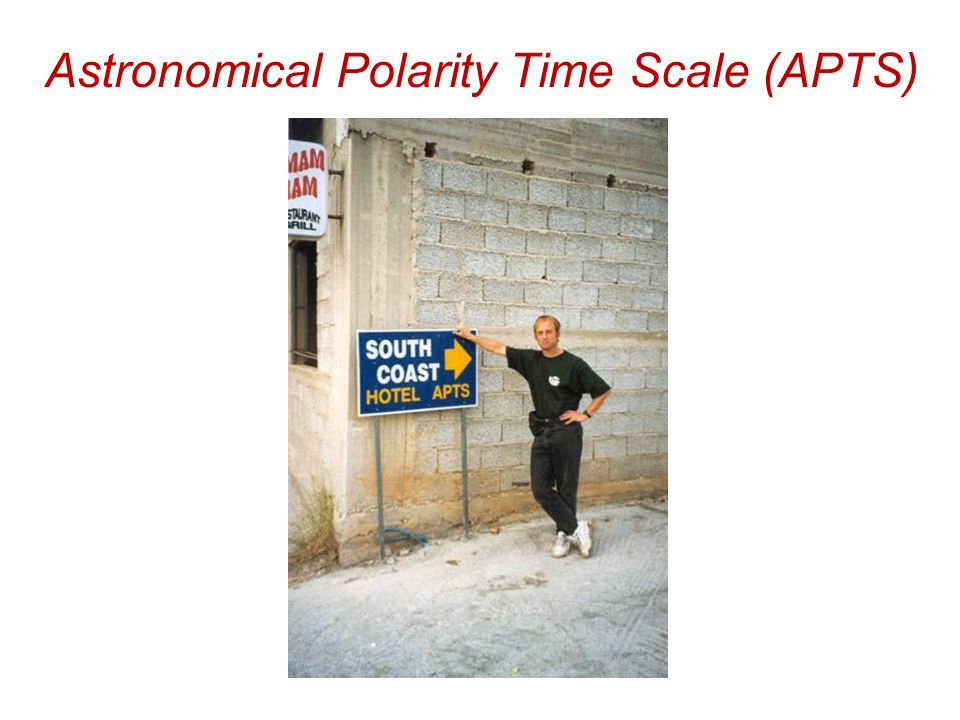 Astronomical Polarity Time Scale (APTS)