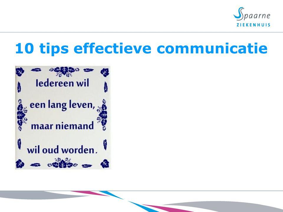 10 tips effectieve communicatie