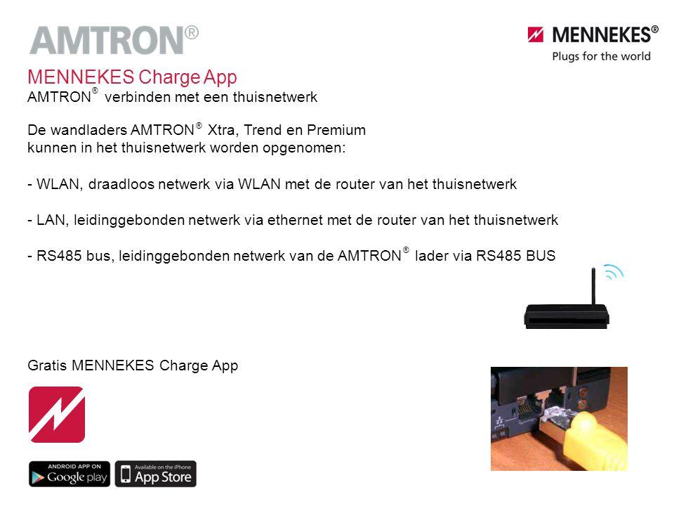 De wandladers AMTRON Xtra, Trend en Premium kunnen in het thuisnetwerk worden opgenomen: - WLAN, draadloos netwerk via WLAN met de router van het thui