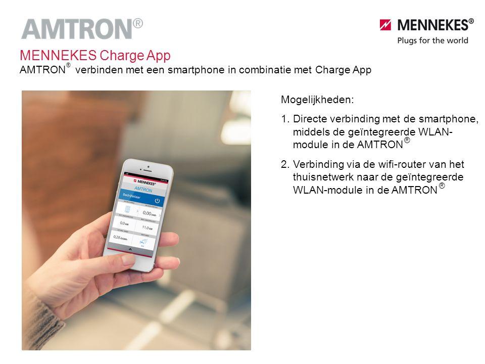 Mogelijkheden: 1. Directe verbinding met de smartphone, middels de geïntegreerde WLAN- module in de AMTRON 2. Verbinding via de wifi-router van het th