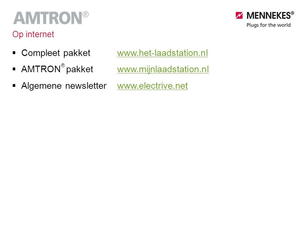  Compleet pakketwww.het-laadstation.nlwww.het-laadstation.nl  AMTRON pakketwww.mijnlaadstation.nlwww.mijnlaadstation.nl  Algemene newsletterwww.ele