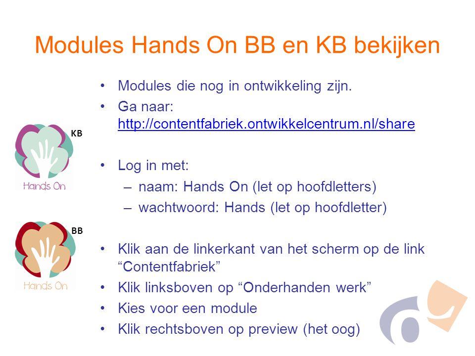 Modules die nog in ontwikkeling zijn. Ga naar: http://contentfabriek.ontwikkelcentrum.nl/share http://contentfabriek.ontwikkelcentrum.nl/share Log in