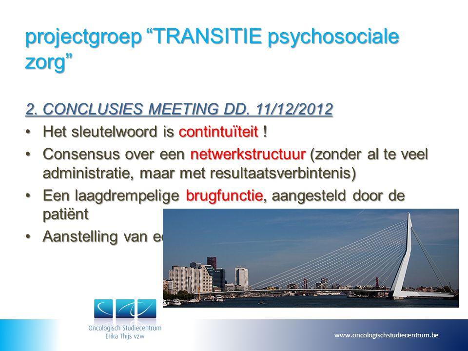 projectgroep TRANSITIE psychosociale zorg 3.
