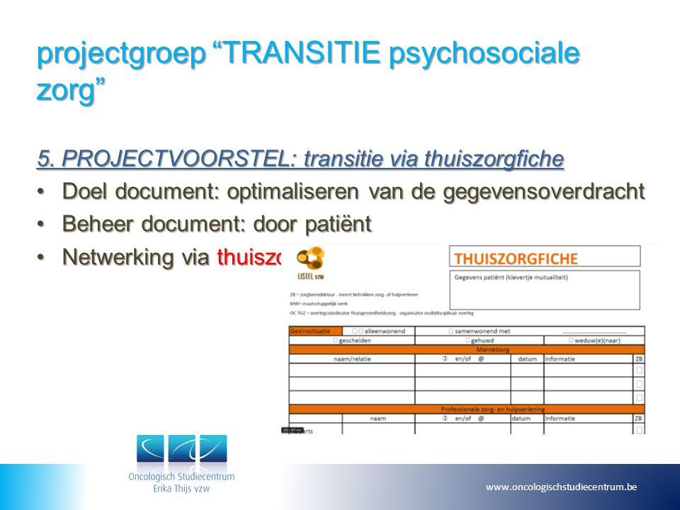 projectgroep TRANSITIE psychosociale zorg 6.SMART .